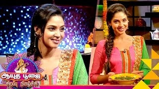 Actress Angana Roy in Ungal Kitchen Engal Chef 10-10-2016 Puthuyugam TV Ayudha Poojai Special Program