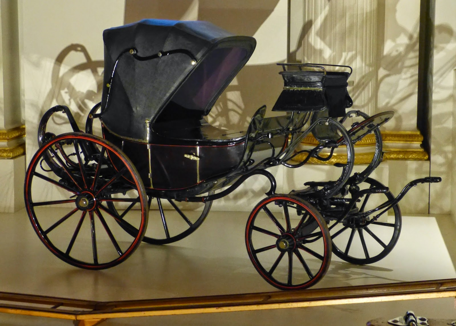 Miniature barouche used by Queen Victoria's children