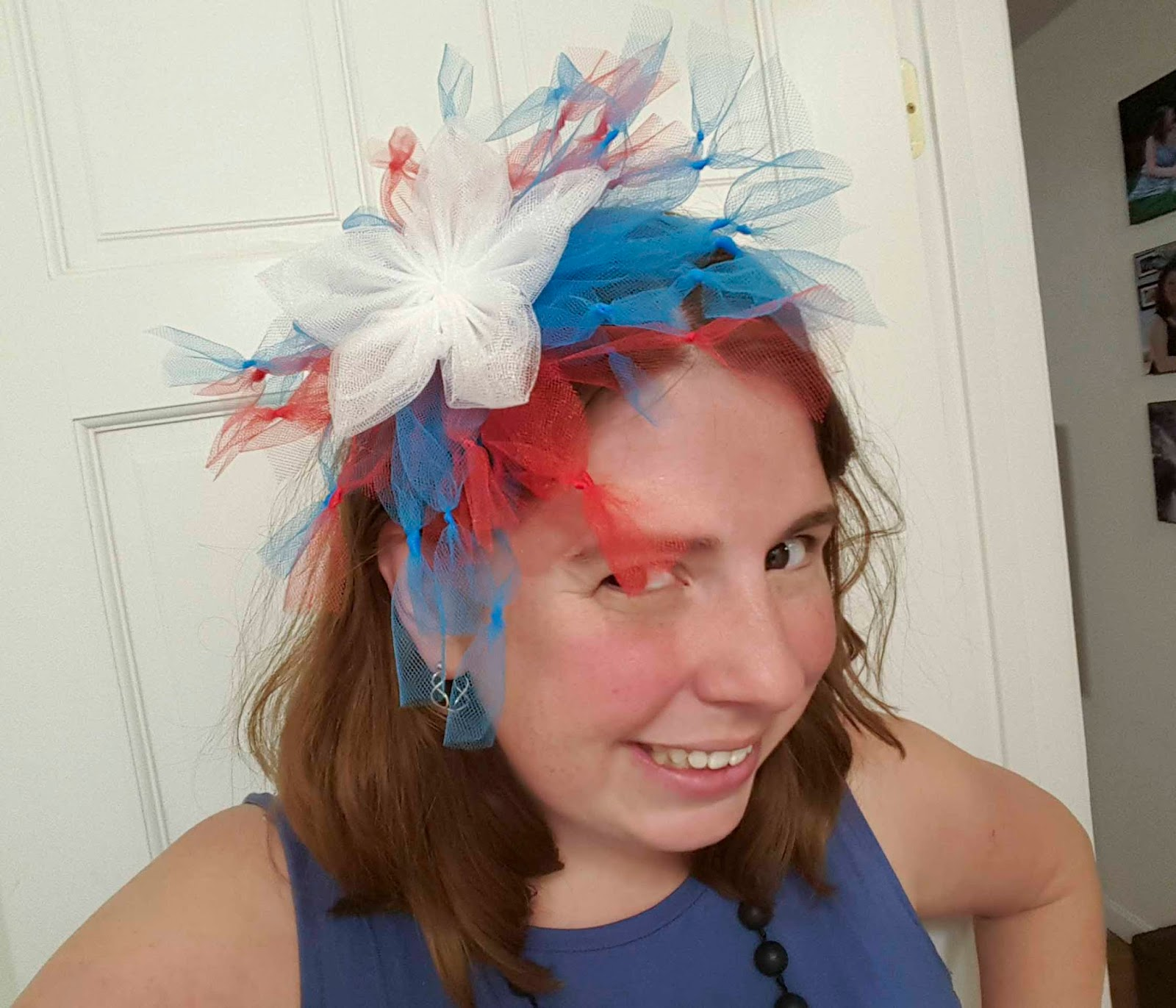 ChemKnits  Stars and Fireworks - Another Patriotic Tulle Headband abca943127b