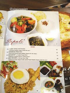 Papali steak house Padang menu 2