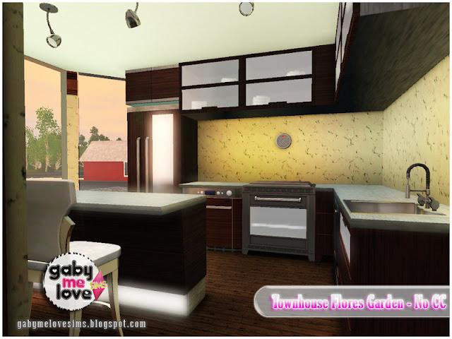 Townhouse Flores Garden |NO CC| ~ Lote Residencial, Sims 3. Cocina.