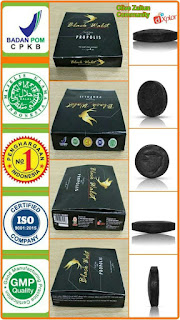 Black walet with propolis