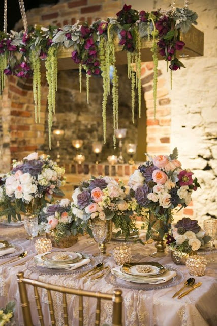 Decoraciones colgantes para bodas - Foto: Pinterest