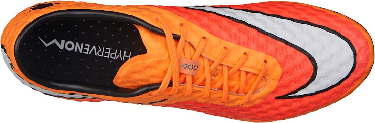 84b756df1 The outsole of the new Hyper Crimson Nike Hypervenom Boot is black with a  white Nike Swoosh.