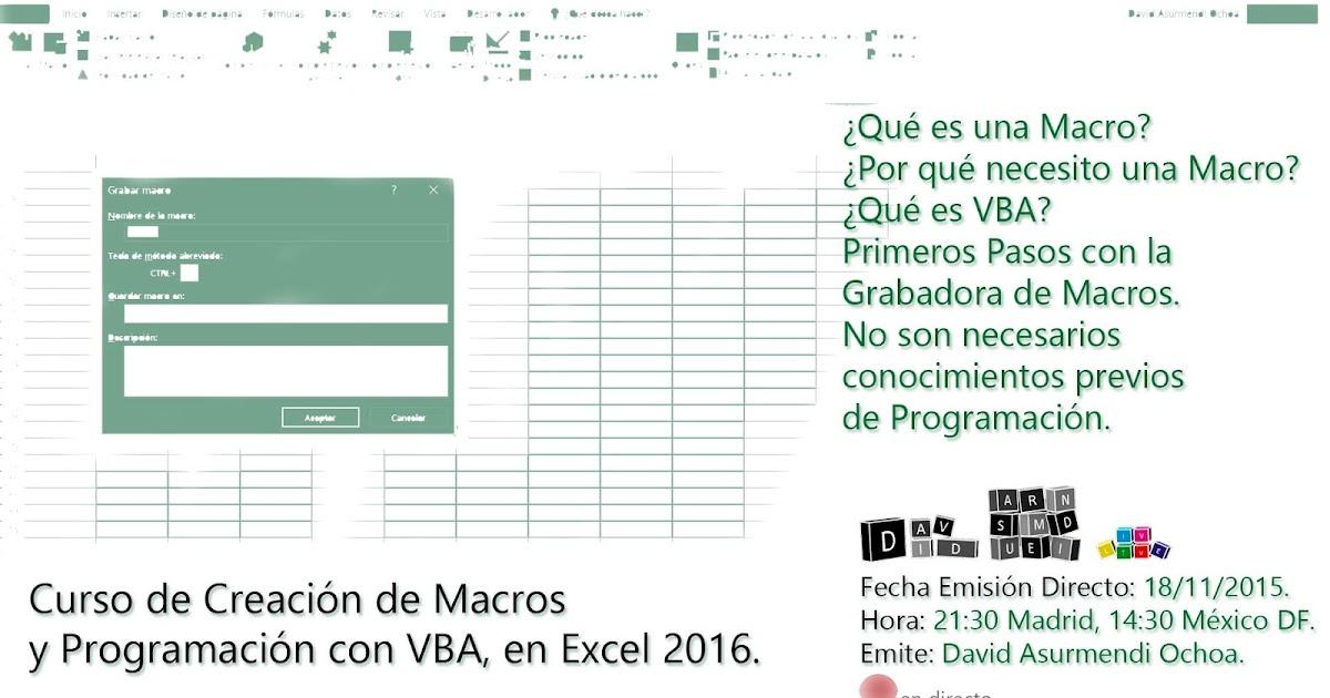 PROGRAMACION EN EXCEL PDF DOWNLOAD