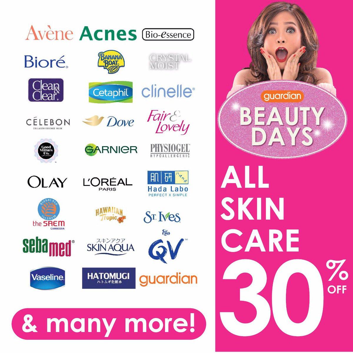 Guardian - Promo Diskon 30% Skin Care All Beragam Merek Terkenal