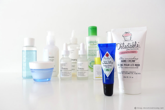 Updated Nightly Skin Care Routine Review featuring Lip and Hand Care Jack Black Moisture Therapy Lip Balm SPF 25 in Mint be Delectable from Cake Beauty Ultra Nourishing Hand Cream in Coconut & Cream