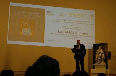 Sul palco il Presidente del Rotary Club di Cascina