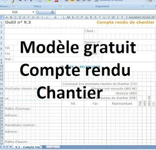 Compte Rendu De Chantier Gratuit Excel Cours Genie Civil Outils Livres Exercices Et Videos