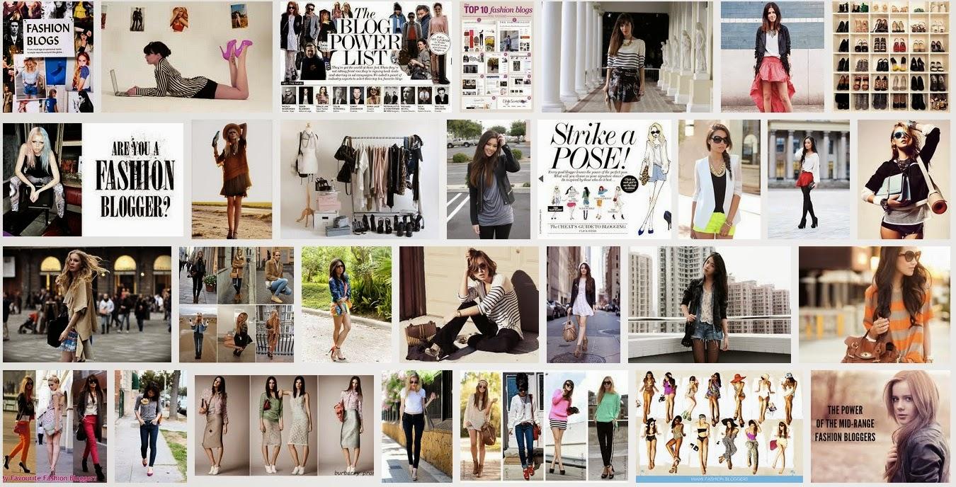 Ejemplos de blogs de moda desde una búsqueda de Google Imágenes
