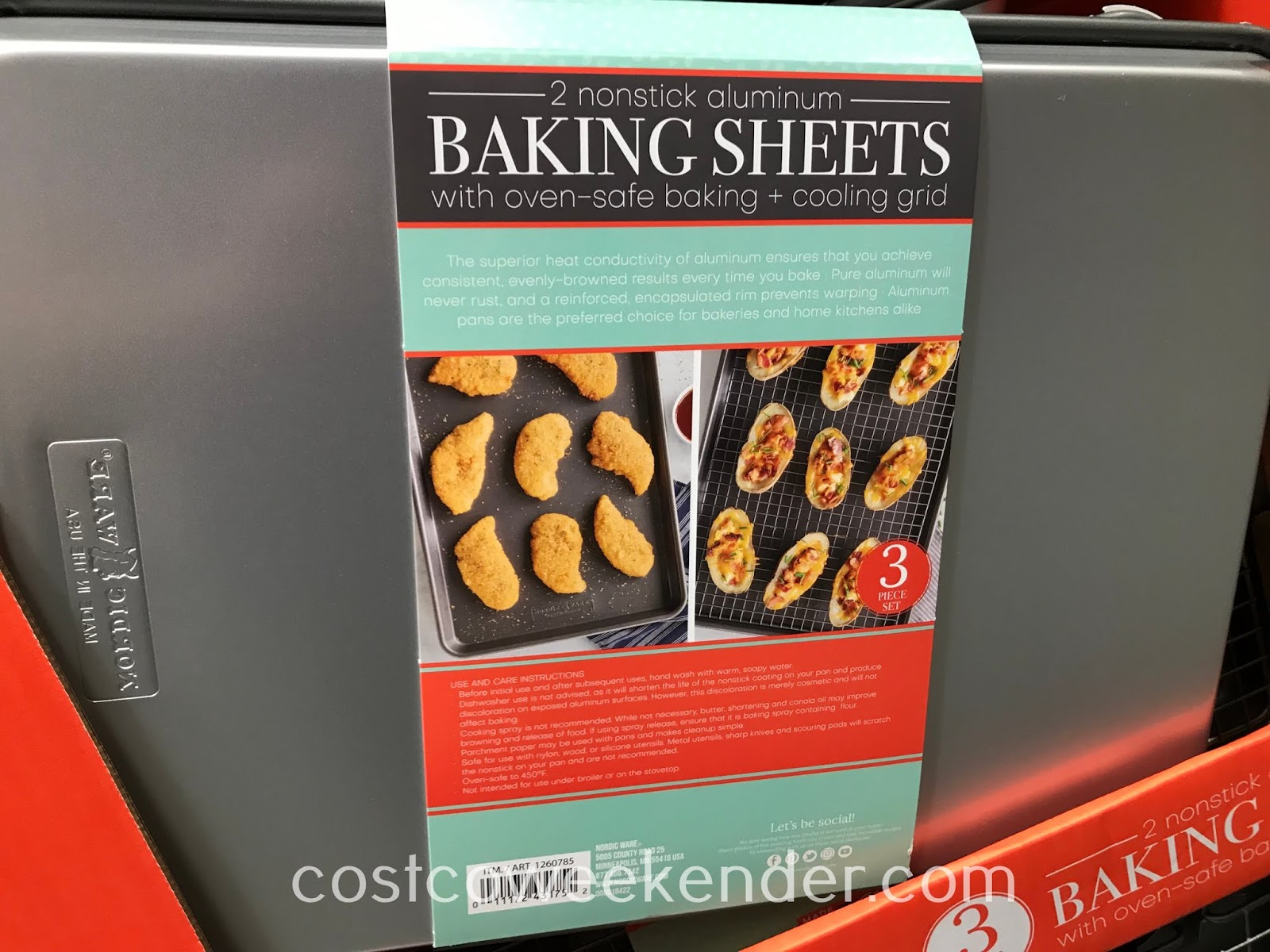 Costco 1260785 - Nordic Ware Nonstick Aluminum Baking Sheets: great for any home baker