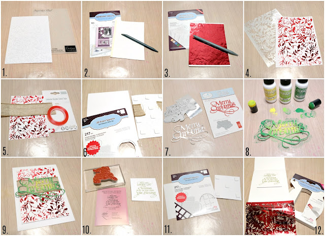 Embossed and Foiled Christmas Card Step by Step Photo Tutorial by Dana Tatar for Scrapbook Adhesives by 3L