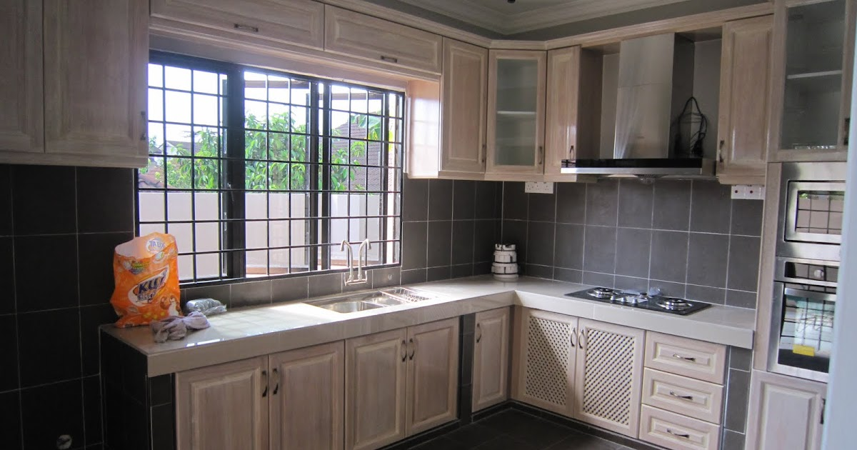 30 Design Kabinet Dapur Kayu Shreenad Home