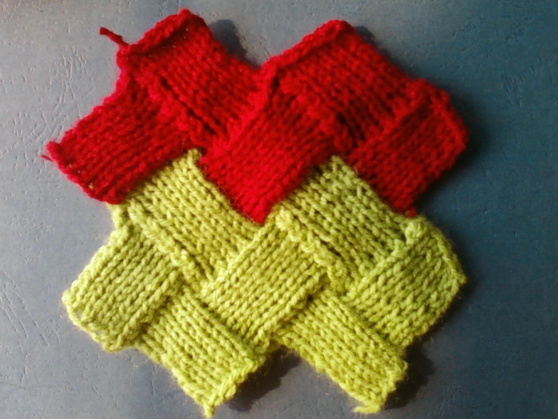 Entrelac Knitting Pattern: Zigzag Stockinette stitch ...