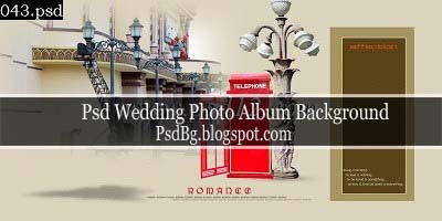 Psd Wedding Photo Album Background
