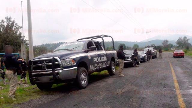 "Policias le salen al ""topon"" a sicarios, matan a dos, pierden un elemento y capturan a cuatro malandros"