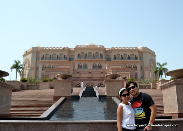 Lady and Ed at Emirates Palace in Abu Dhabi