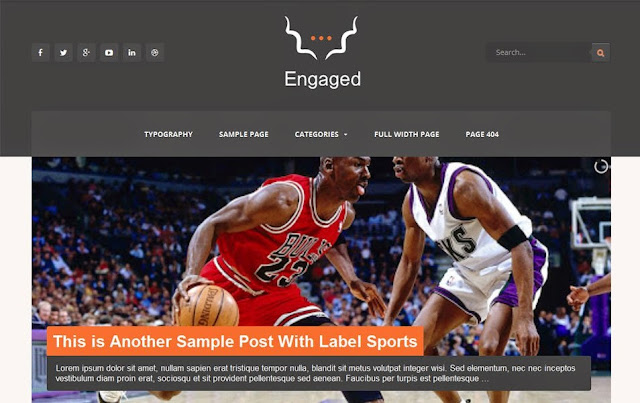 Template Blogger Engaged Versi Gratis