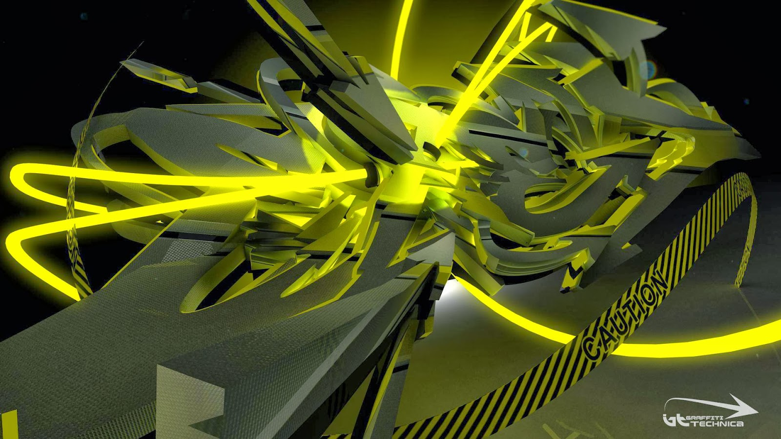 40 Imágenes Abstractas Para Descargar E Imprimir: Fondo De Pantalla Abstracto Graffiti Amarillo Hecho A
