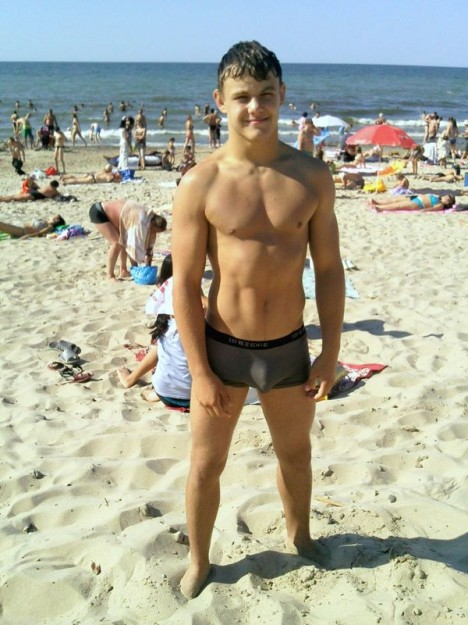Twink beach spying gay changing room kody 7