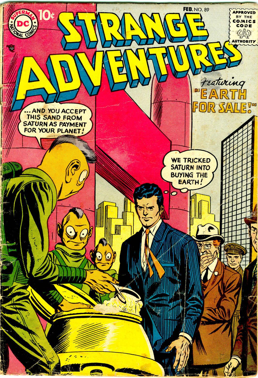 Strange Adventures (1950) issue 89 - Page 1