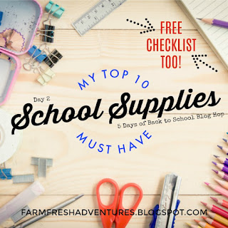 Top 10 School Supplies for Back to School w/Free Checklist