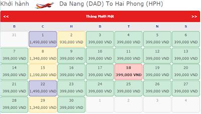 Vé máy bay từ Đà Nẵng đi Hải Phòng giá rẻ
