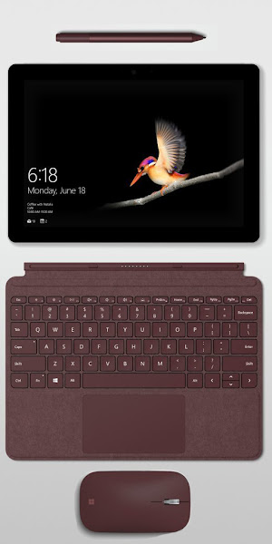 Surface Go with Surface Pen and Surface Mouse