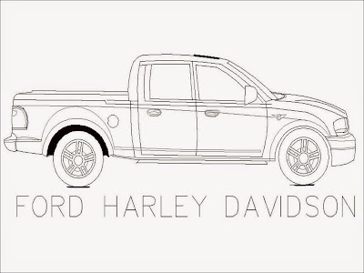 Ford Harley Davidson Coloring Pages