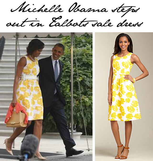 Michelle Steps Out In Talbots