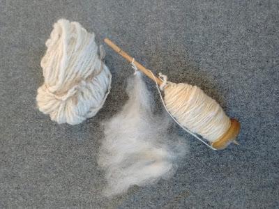 Spindle, wool and fleece