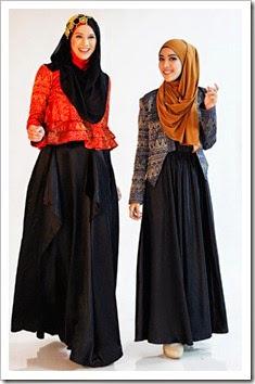 Model Baju Muslim Gamis Brokat Dian Pelangi Terbaru
