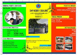 aplikasi brosur sekolah modus pelangi berbasis excel