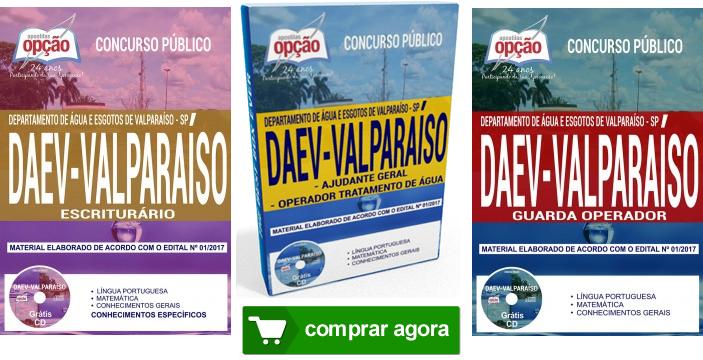 Apostila concurso DAEV Valparaíso Guarda Operador.
