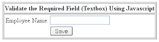 Validate Textbox Using Javascript