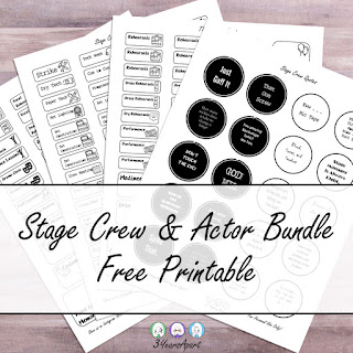 3 Years Apart Stage Crew and Actor Bundle Free Printable