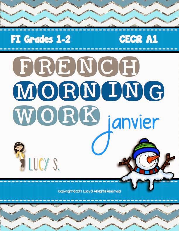 French Language Morning Work - January