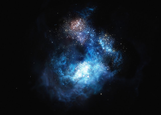 Galaxy in the early universe contains carbon after all