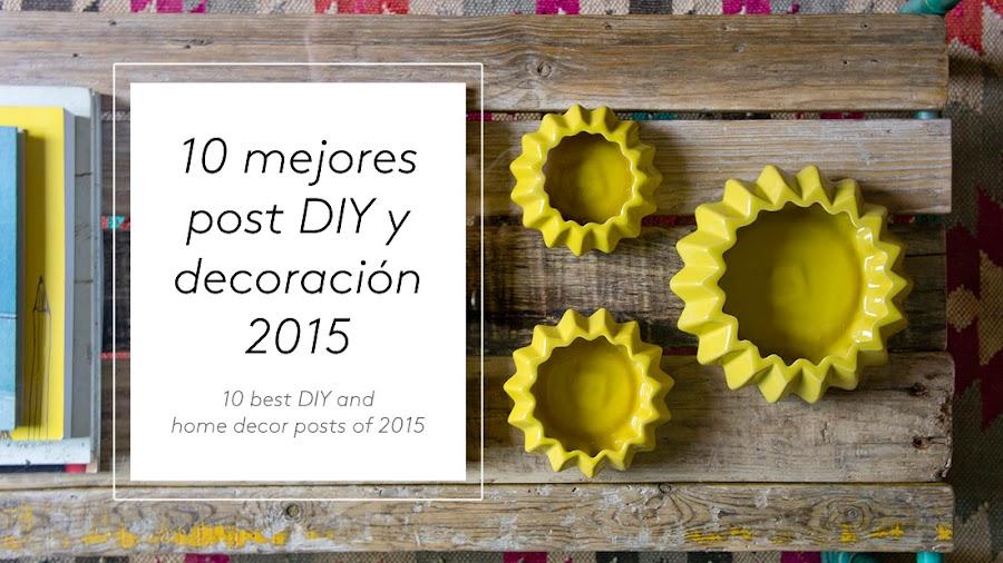 10 mejores post DIY y decoración 2015