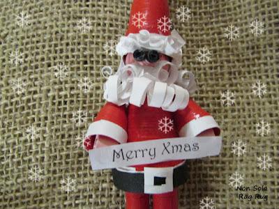 come realizzare un Babbo Natale in quilling