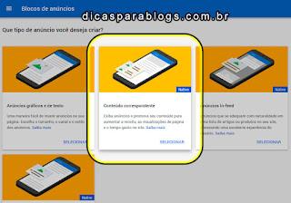 selecionar o bloco conteúdo correspondente