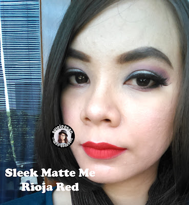 Trend Lipstik Liquid - Sleek Matte Me - Swatch Rioja Red