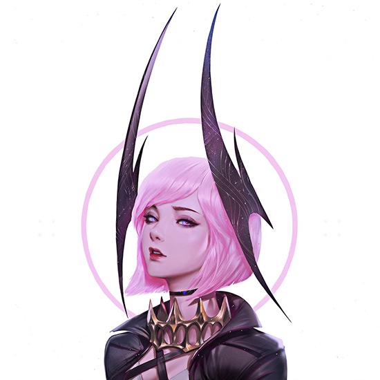 Selena - Pink Devil Wallpaper Engine
