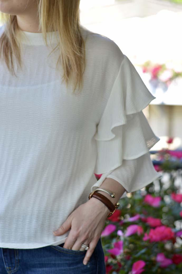 Cute Ruffle Sleeve Top