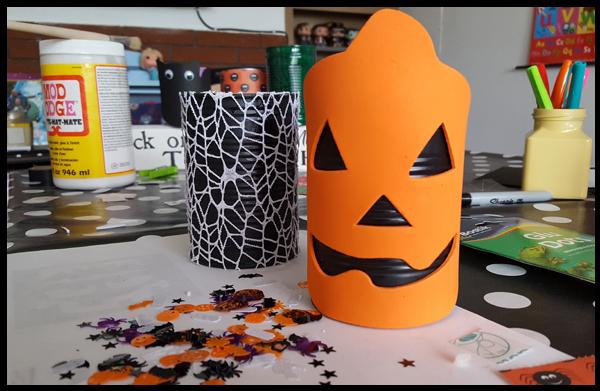 Recycled halloween lantern Pumpkin