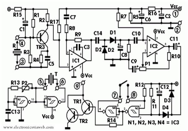 Ultrasonic Motion Detector Circuit Diagram - Wiring Diagram Web