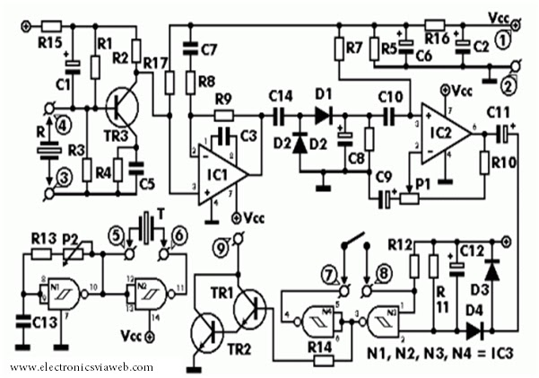 Magnificent Ultrasonic Radar Alarm Basic Electronics Wiring Diagram Wiring Cloud Hisonuggs Outletorg