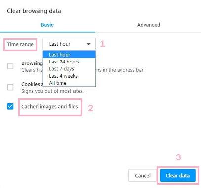 clear data opera