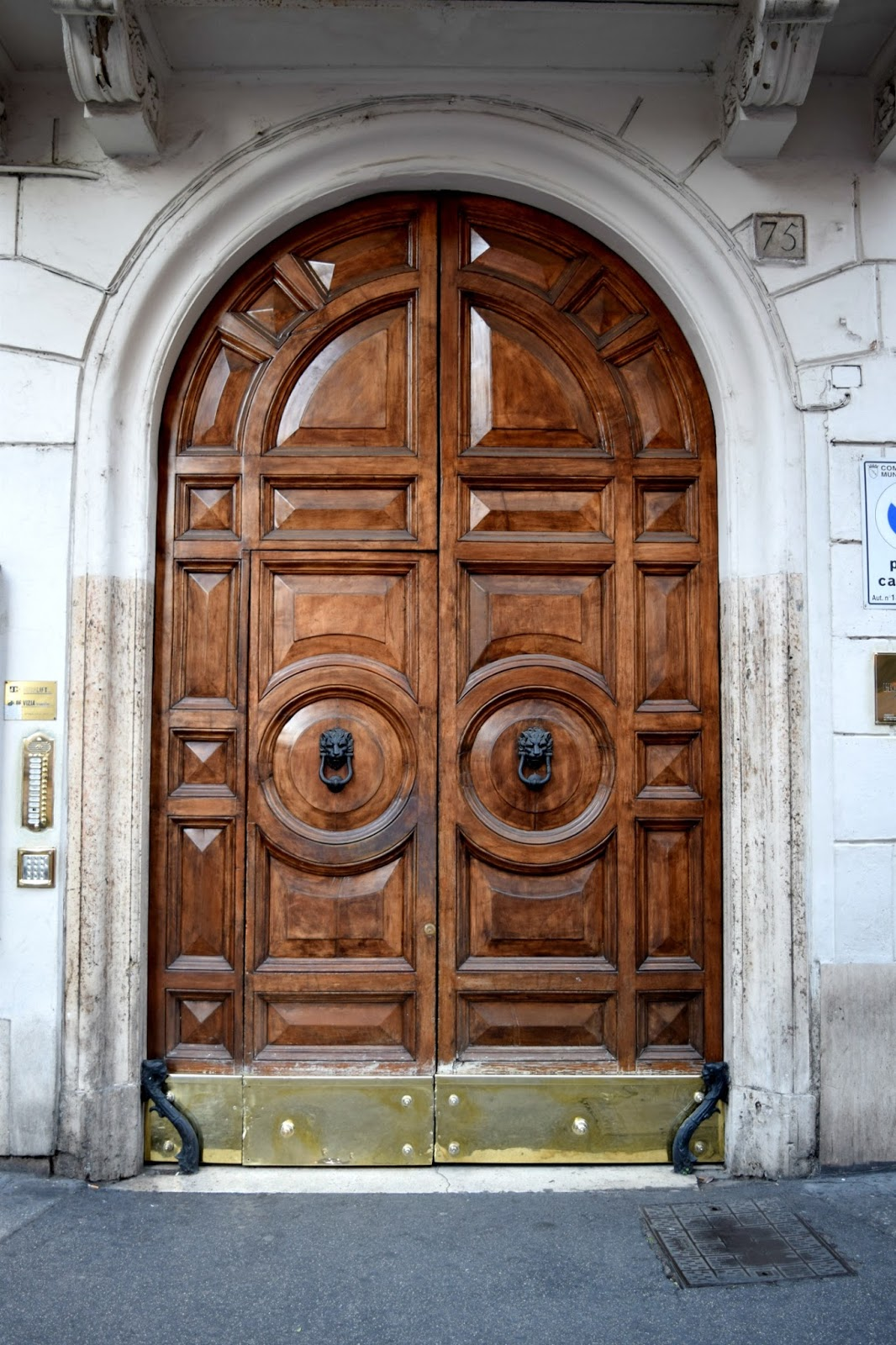 wooden door in rome