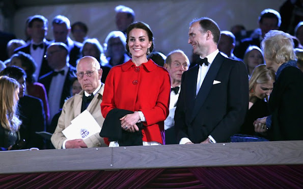 Kate Middleton, Prince William, Prince Hanry attends the final night of The Queen's 90th Birthday Celebrations at the Royal Windsor
